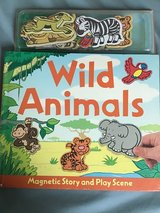 Wild Animals magnetic story and play set in Westmont, Illinois