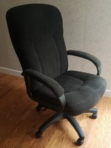 Office chair: rolling, cloth-covered office chair in Elizabethtown, Kentucky