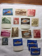 Vintage stamps from Japan—i think 38 total so this is some of them in Beaufort, South Carolina