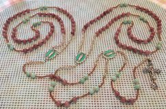 Lasso Wedding Rosary Caramel Jade and Green Beads Colors for 2020 Swarovski Accents Special Meda... in Kingwood, Texas