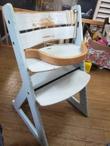 wooden high chair in Okinawa, Japan