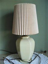 Small Vintage Ceramic / Glass Table Lamp in Lackland AFB, Texas