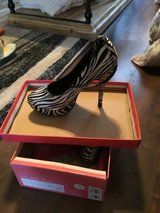 High heel platform zebra shoes in Travis AFB, California