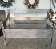 Gray Bench with storage in Fort Campbell, Kentucky