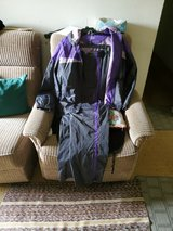 XL purple and black wind suit in Fort Polk, Louisiana