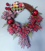 Spring or Summer Grapevine Wreath With Ladybugs Sign and Lots of Bows in Camp Lejeune, North Carolina