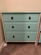 Beautiful  3 drawer / dresser mint green and white in CyFair, Texas