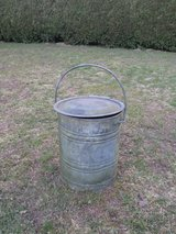antique metal container with lid and handle in Ramstein, Germany