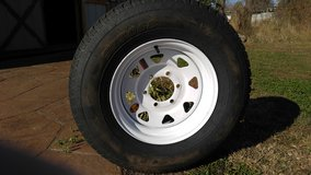 "(4) 15"" trailer wheels with radial tires (NEW) in Fort Campbell, Kentucky"