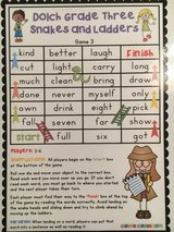 Sight word snakes and ladders in Warner Robins, Georgia