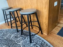 3 Countertop Bar Stools - Black & Gray in Naperville, Illinois