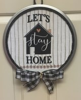 Let's Stay Home plaque wreath. in Elizabethtown, Kentucky