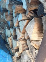 Firewood Rack, Cover and Wood in Plainfield, Illinois