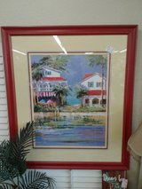 Red Framed Beach Cottages Wall Art #1998-315 in Camp Lejeune, North Carolina