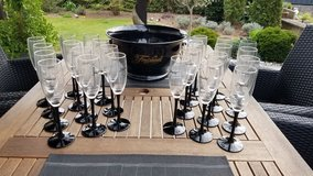 Freixenet Champagne cooler with 24 glasses in Ramstein, Germany
