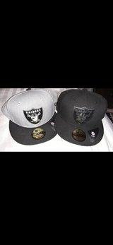 NFL Raiders hats in Nellis AFB, Nevada