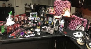 The Nightmare Before Christmas Lot Kubrick Luggage Tub Toys Trading Pins Clothing + in Houston, Texas