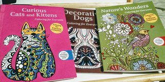 Adult Coloring Bks Cat, Dog, Nature New in 29 Palms, California