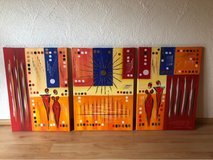 set of 3 Painted acrylic pictures in Ramstein, Germany