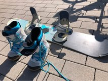 Snowboard with Boots in Fort Leavenworth, Kansas