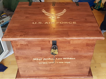 Retirement chest in Spangdahlem, Germany