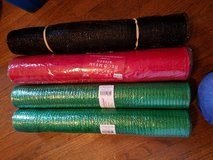 4 rolls of deco mesh green and red in Oswego, Illinois