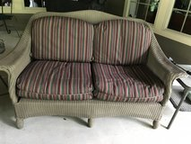 Lloyd and Flanders love seat-reduced in Conroe, Texas