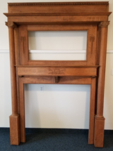 Oak Fireplace Mantle in Vacaville, California