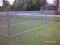 New Chain Link Dog Kennel in Pearland, Texas