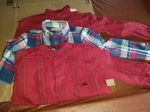 Boys long sleeve shirt button up 10/12 in Oswego, Illinois