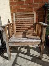 Rustic Wooden Patio Chair in Fort Belvoir, Virginia