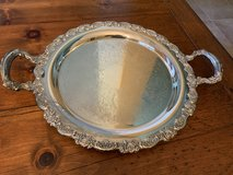 Oneida Vintage Silver Tea Tray with Ornate Roses in Tomball, Texas