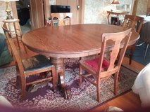 Oak Table  and ChairsVintage in Elgin, Illinois