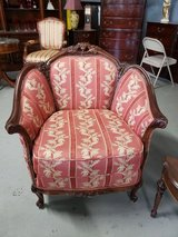 Gorgeous Victorian ornate carved arm chair in Chicago, Illinois