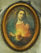 Old Italian image of Jesus Christ, from Italy in Okinawa, Japan