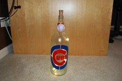 Lighted Cubs wine bottle in Naperville, Illinois