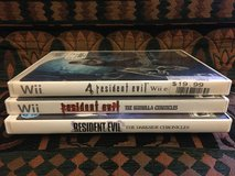 Wii Games - 3 Resident Evil Video Games in Plainfield, Illinois