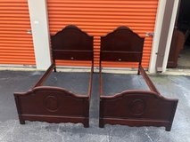 Antique Solid Mahogany Twin Bed Set in Cherry Point, North Carolina