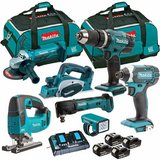 buy 2 get unit free Makita 18V Li-Ion 7 Piece Monster Kit with 4 x 5.0Ah Batteries & Charger in Bag in Ansbach, Germany
