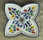 Italian handmade large soap dish from Deruta (Umbria) in Okinawa, Japan