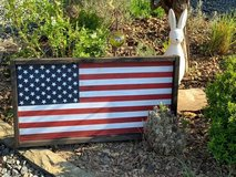 American Flag - wooden sign in Spangdahlem, Germany