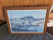 "Framed print ""Fisherman's Cove "" in Camp Lejeune, North Carolina"