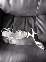 NIB Silver dress sandals in Aurora, Illinois