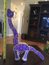 Purple Wooden Dinosaur in Joliet, Illinois