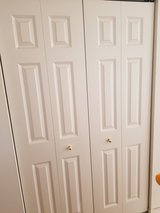 A Pair of Traditional 24 x 80 6-Panel Molded Composite Bi Fold Doors Hardware Included Like New ... in Batavia, Illinois