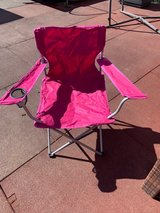 Pink camp chair in Wiesbaden, GE