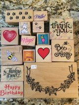 Set of 18 Rubber Stamps in Sandwich, Illinois