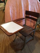 Vintage Antique School Chair with Table in Plainfield, Illinois