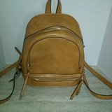 Trendy Tan / Yellow / Gold Backpack Purse in Conroe, Texas