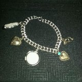"Silver Charm Bracelet With 5 Charms 7"" in Conroe, Texas"